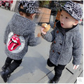 Kids Boys Winter Wool Coat Woolen Baby Child Windbreaker Hot Kids Clothing Grey