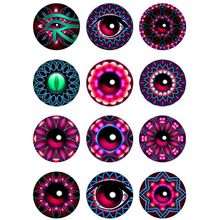 10mm 12mm 14mm 16mm 20mm 25mm 402 12pcs/lot Eyes Mix Round Glass Cabochons Jewelry Findings 18mm Snap Button Charm Bracelet