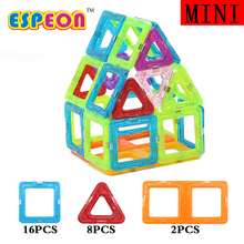 26Pcs Mini Magnetic Designer Building Blocks Kids Models Building Toys Technic Plastic DIY Enlighten Bricks Children Magnet Game