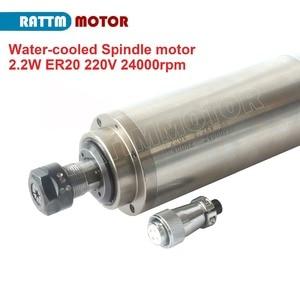 """Image 3 - CNC ציר ערכת מים מקורר 2.2KW ER20 220V + 2.2kw הי""""ד מהפך 220V + 80mm מהדק + 75W משאבת מים + צינור מים + ER20 Collets"""