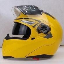 JIEKAI 105 Мотокросс undrape Мотоциклетный Шлем Moto Racing рыцарь Мотоцикл Езда шлемы, изготовленные из ABS Желтый цвет