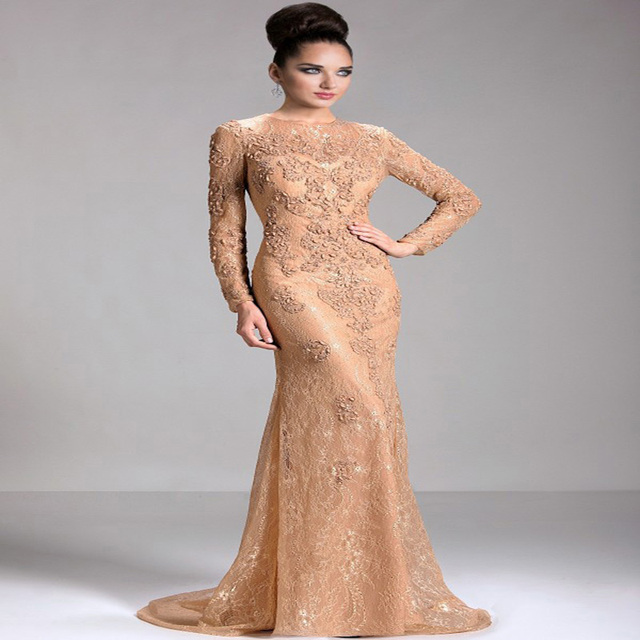 zuhair murad Evening Dress 2016 Popular In USA Sexy Scoop Lace Prom ...