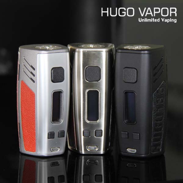 Hugo Vapor HUGO133 box mod HUGO 133 18650 TPC mode design Hugo Vapor 133W tc mod fpv vapor
