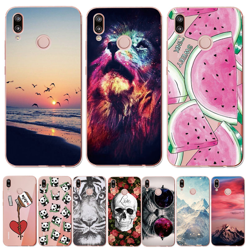 For Huawei P20 Lite Case 5.84inch Huawei P20 Lite Soft Rubber TPU Silicone Back Phone Case For Huawei P20 Lite Cover Bag Cases