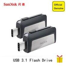 Sandisk USB флэш-накопитель 32 ГБ 64 ГБ 128 ГБ 16 ГБ 150MBS Тип-C USB3.1 двойной OTG ручка накопители USB накопитель для телефона компьютер PC