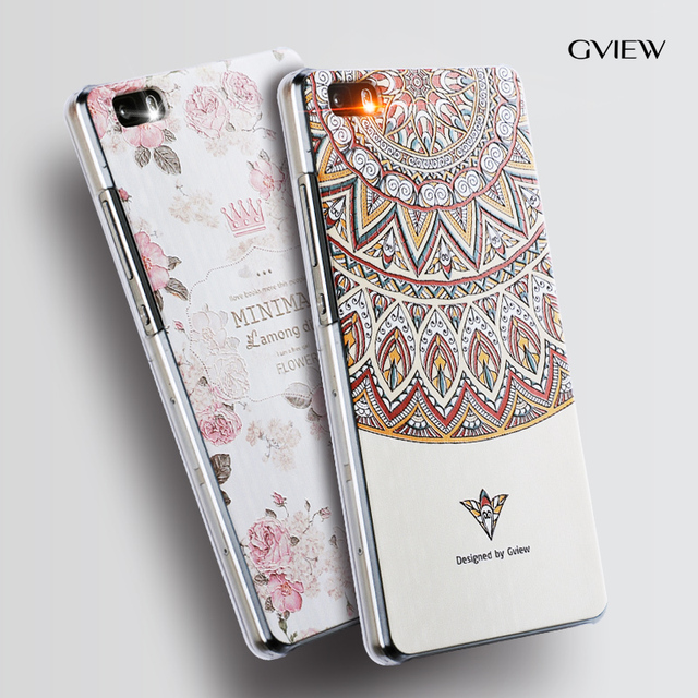 new product 0d222 0a3da US $9.49 5% OFF|Gview Huawei p8 lite phone case huawei p8 mini Relief  cartoon image painting Silicone 5.0