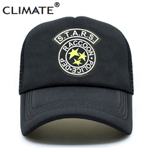 bbcd7bfade5c85 CLIMATE Men Summer Trucker Caps Resident Evil Raccoon City Mesh Zombie Baseball  Cap. US $5.60 / piece Free Shipping