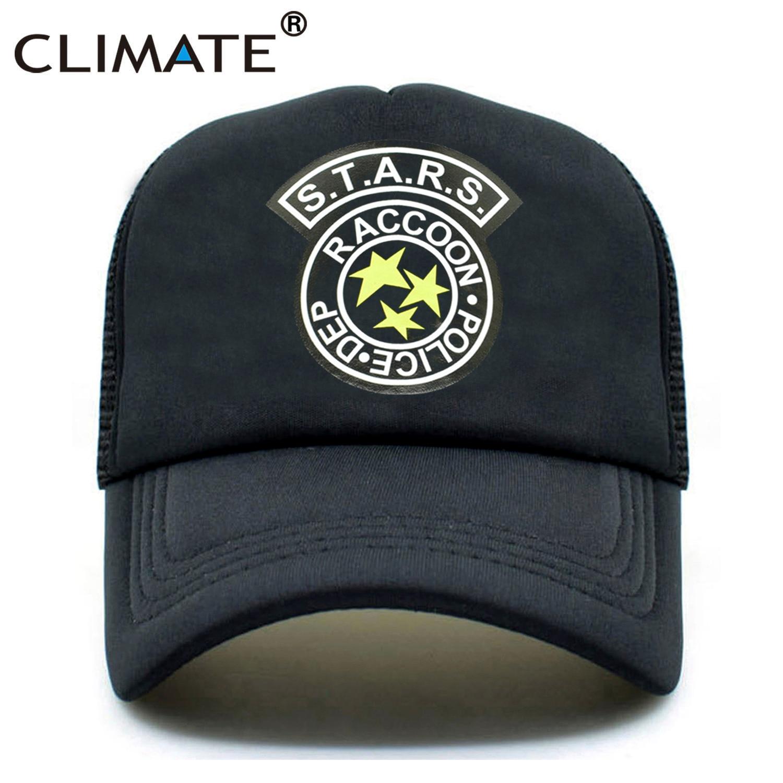 CLIMATE Men Summer Trucker   Caps   Resident Evil Raccoon City Mesh   Cap   Zombie Outbreak Umbrella Corporation Youth   Baseball     Cap   Hat