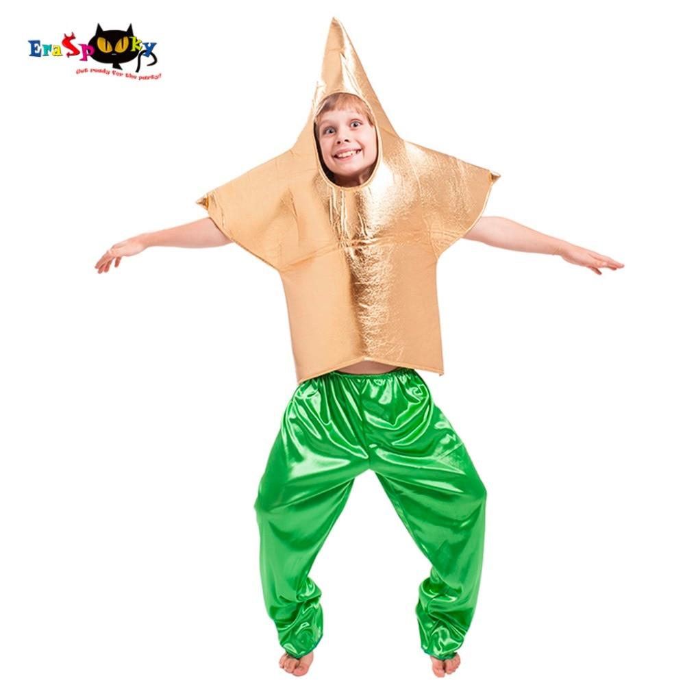 Eraspooky Funny Golden Star Cosplay Boys Halloween costume kids Sea Star Tunic Carnival Party Clothes Children Fancy Dress