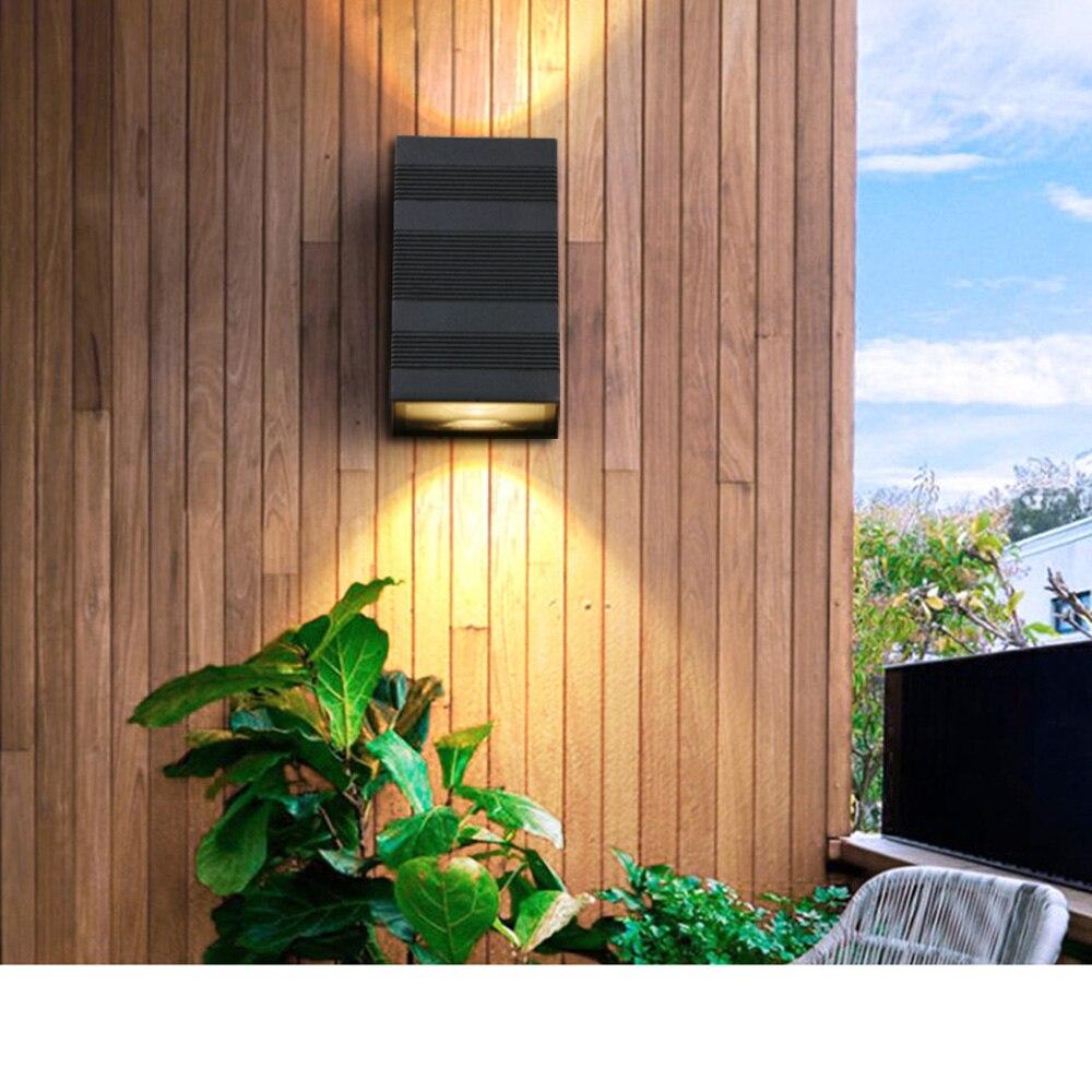 Modern Outdoor 6W LED Wall Lamp Stripe Black Cuboid Wall ... on Modern Wall Sconce Lights id=24302