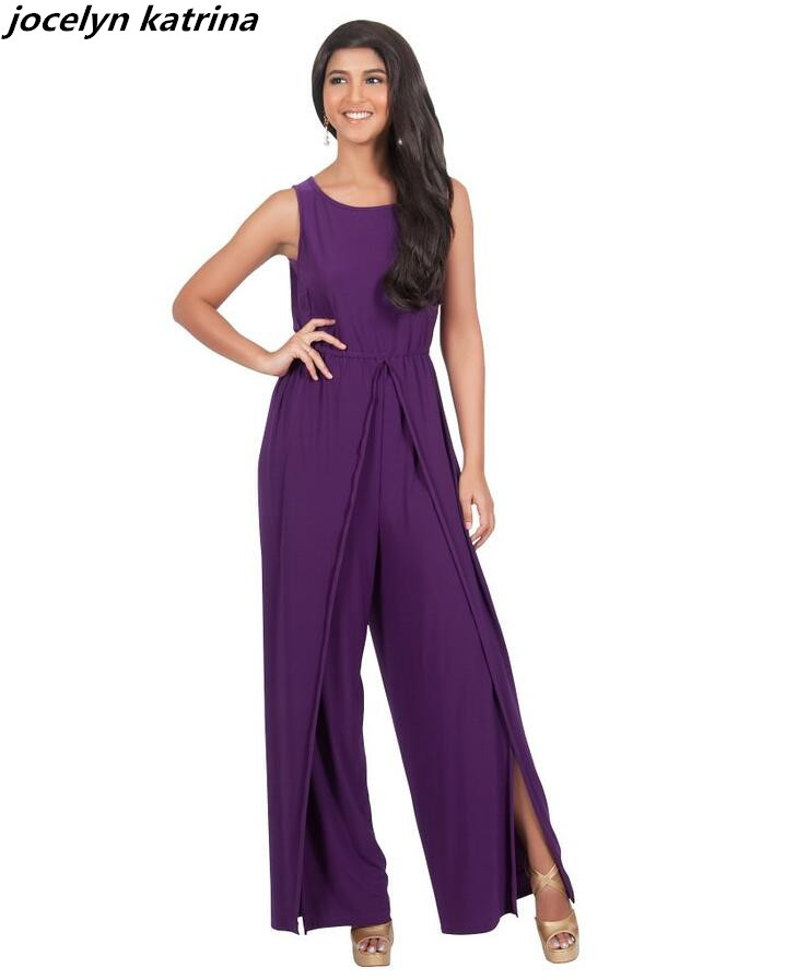 jocelyn katrina brand Mujer Elegant Casual O-Neck Women Jumpsuit Sexy Club Open Fork Bod ...