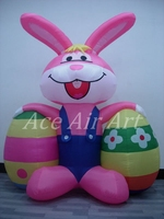 Big Easter balloon inflatableb Bugs Bunny Carrying 2 Eggs for Events Decorations