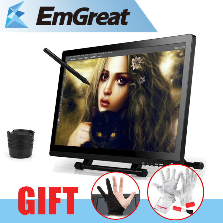 UGEE UG2150 21.5 Inches IPS Monitor Digital Graphic Drawing Tablet Rechargeable Pen 1920x1080 HD Display 5080LPI + Glove xp pen artist22e fhd ips pen display monitor graphics drawing tablet with 16 express keys
