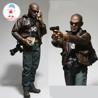 Veryhot 1/6 Scale Detective Casual Suit Clothes Leather Jacket Jeans Backpack Equipment Model for 12 Inches Soldier Figrues