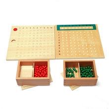 Drewniane zabawki Montessori Montessori mnożenia koralik pokładzie dla dzieci nauka zabawki edukacyjne dla małych dzieci dla dzieci MI2564H