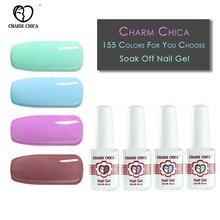 Фотография CHARM CHICA UV Gel Polish Fluorescent Color Gelpolish Soak Off Gel LED Manicure gelpolish Nail Art Varnish for Dating Makeup