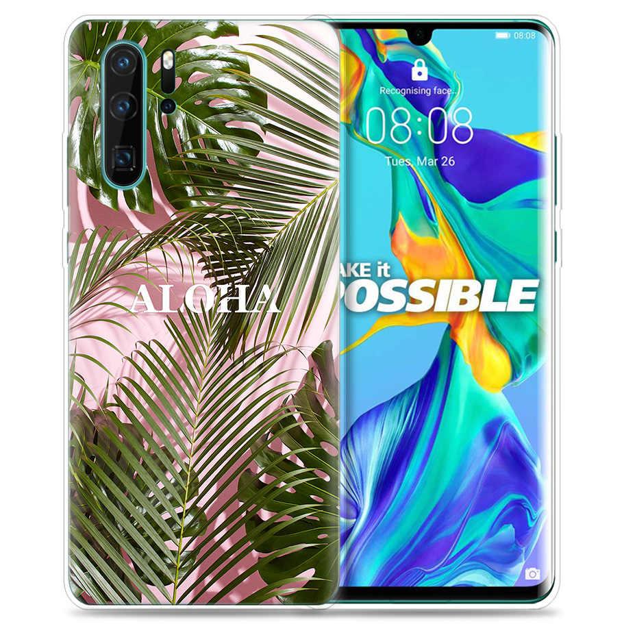 สำหรับ Huawei P30 P20 P10 P9 Mate 10 20 Lite Pro โทรศัพท์มือถือกระเป๋า P สมาร์ท Z 2019 plus ฤดูร้อน Palms Sea Ocean Aloha P8 P30