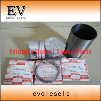 For Isuzu 3LB1 piston piston ring cylinder liner full gasket kit crankshaft&con rod beairng