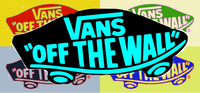 OEM Vans Of The Wall Ads Classic Collectibles Decorative Logo Wall Wallpaper Stickers Mural Customized Cute