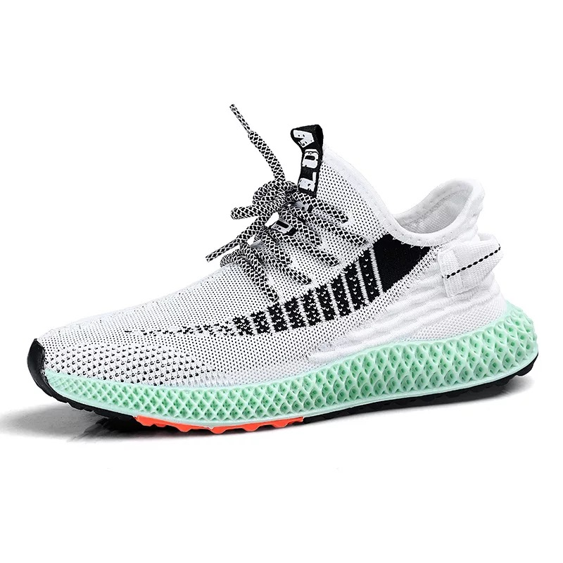 4D Print Print Men Running Shoes Breathable Fly Weave Sneakers Outdoor Sport Comfortable Footwear Male Big Size 3504D Print Print Men Running Shoes Breathable Fly Weave Sneakers Outdoor Sport Comfortable Footwear Male Big Size 350