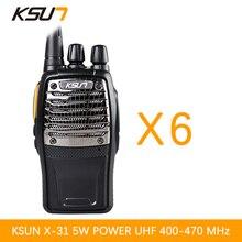 6 PCS BUXUN X 31TFSI Walkie Talkie VOX function 5W Handheld Pofung UHF 400 470MHz 16CH