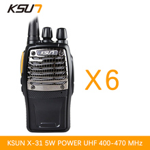 6 PCS BUXUN X-31TFSI Walkie Talkie VOX function 5W Handheld Pofung UHF 400-470MHz 16CH Two way Portable CB Radio