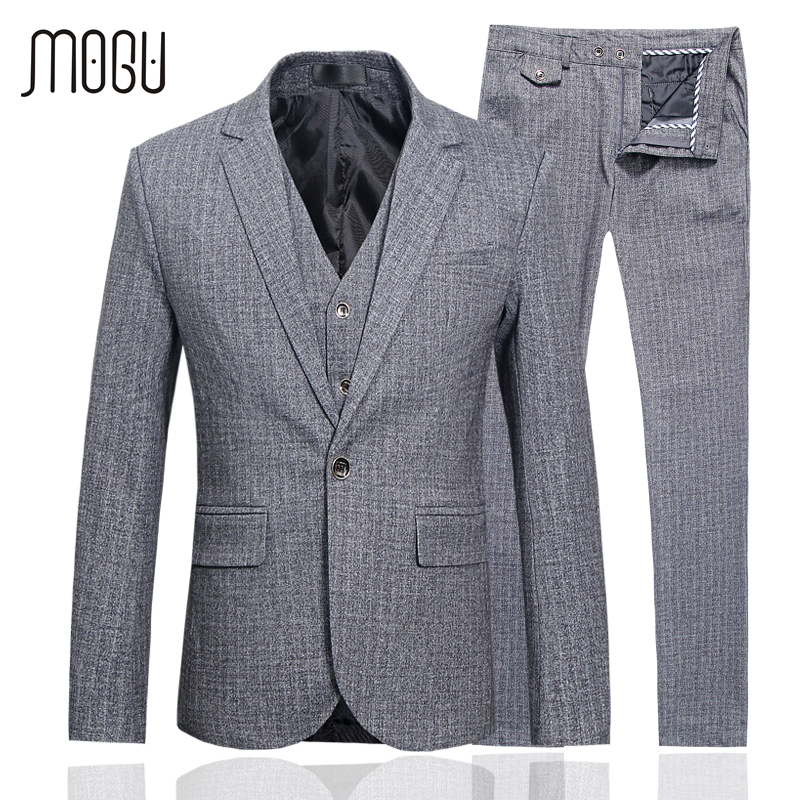 MOGU Wedding Suits For Men 2017 Spring New Arrival Men s Clothing High Quality Three Piece
