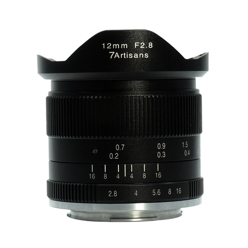 7 artigiani 12mm f2.8 Ultra Wide Angle Lens per Sony A6500 A6300 A6000 A5100 A5000 NEX-3 NEX-3N NEX-3R NEX-C3 NEX-F3K NEX-5K
