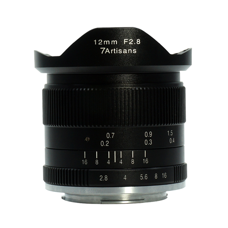 7artisans 12mm f2.8 Ultra Grand Angle pour Sony A6500 A6300 A6000 A5100 A5000 NEX-3 NEX-3N NEX-3R NEX-C3 NEX-F3K NEX-5K