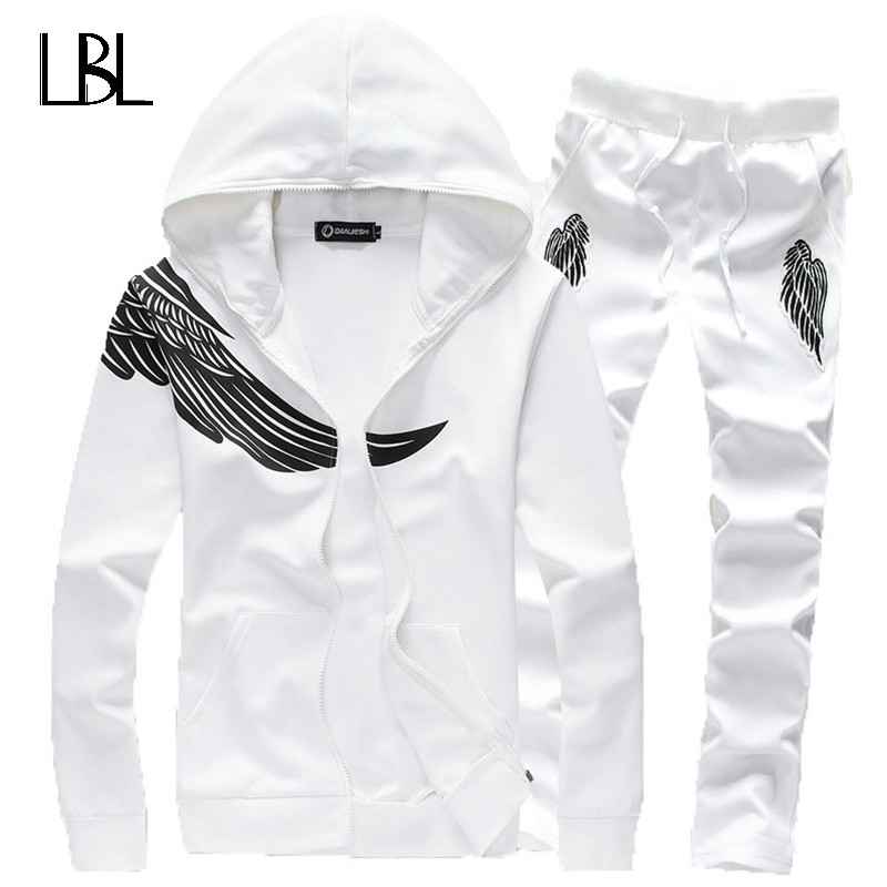 Tracksuit Men Brand Clothing Sping/Autumn Hood Sweatshirt Casual Set Men Brand Men's SportSuit Men Sportswear Jacket+Pants 2018