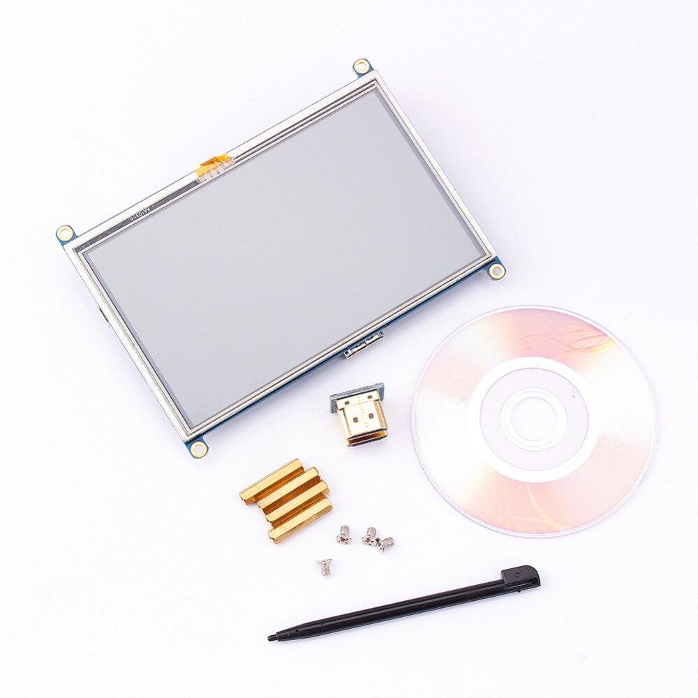 5 pouce 800x480 Tactile LCD Écran 5 Affichage mini PC Pour Raspberry Pi Cubieboard Marsboard