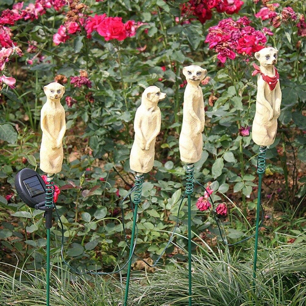 Mikey Ornament Meerkat The Meerkat with Lantern Solar Powered Decorative Garden