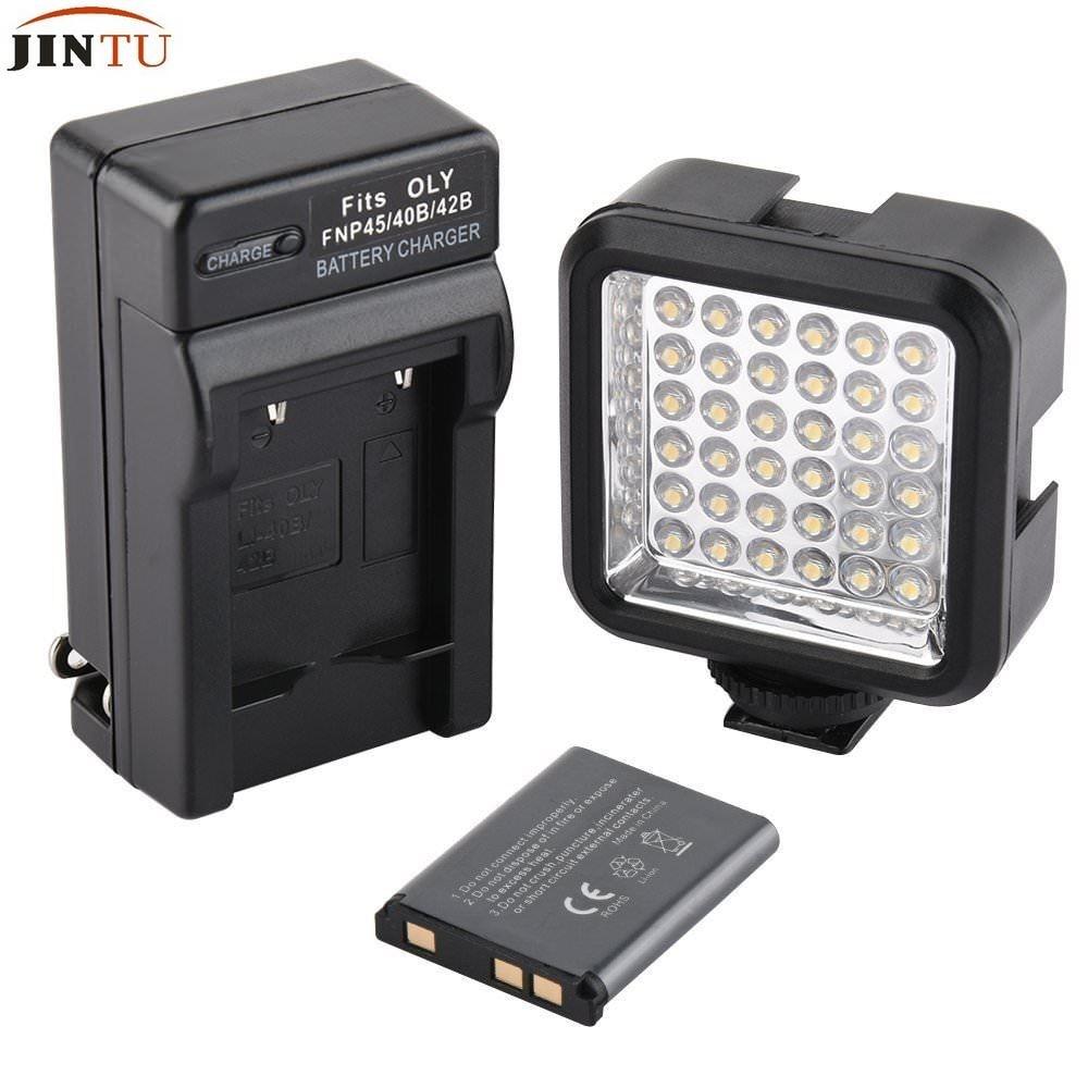 Pro 36 Led Vidéo Lumière + Chargeur + Kit De Batterie pour Sony Canon NIKON DSLR Caméscope Griffe Lampe