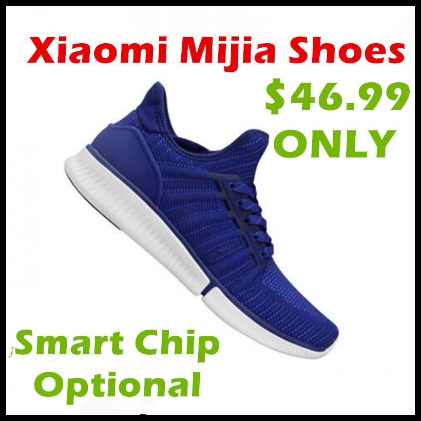 In stock Xiaomi Mijia Shoes Fashionable Design Replaceable Waterproof IP67 Phone APP Control Sport Shoes Smart Chip Optional