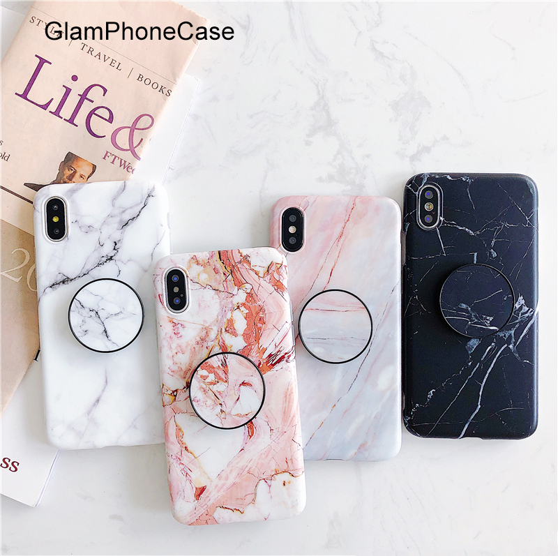 GlamPhoneCase Marble Telescopic bracket Phone Case for iphone X 7 7plus 8 8plus 6 6plus 6S 6Splus Soft Tpu Back Cover Case GlamPhoneCase Marble Telescopic bracket Phone Case for iphone X 7 7plus 8 8plus 6 6plus 6S 6Splus Soft Tpu Back Cover Case