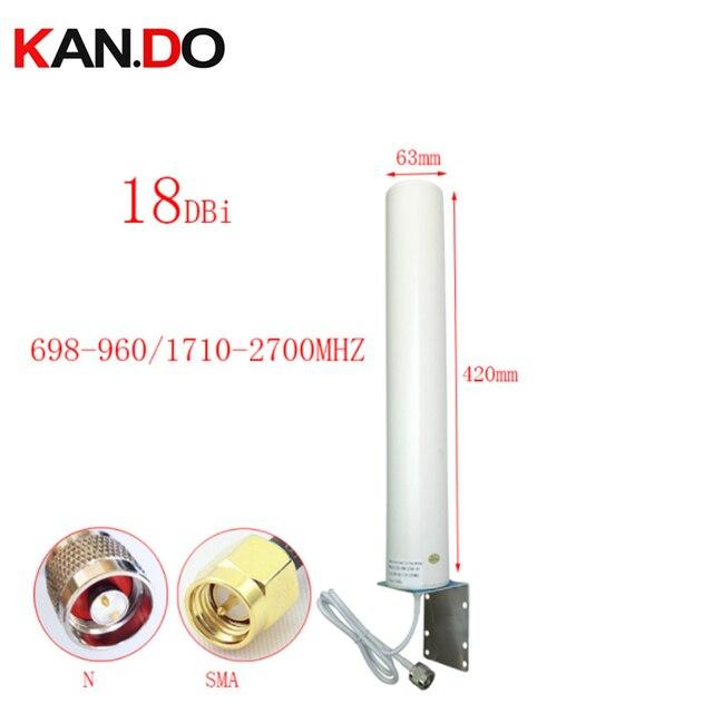 Reale 18dbi 42 centimetri di lunghezza 697 2700Mhz esterna 2G 3G 4G antenna per ripetitore router antenna ripetitore 4G LTE modem antenna N maschio SMA