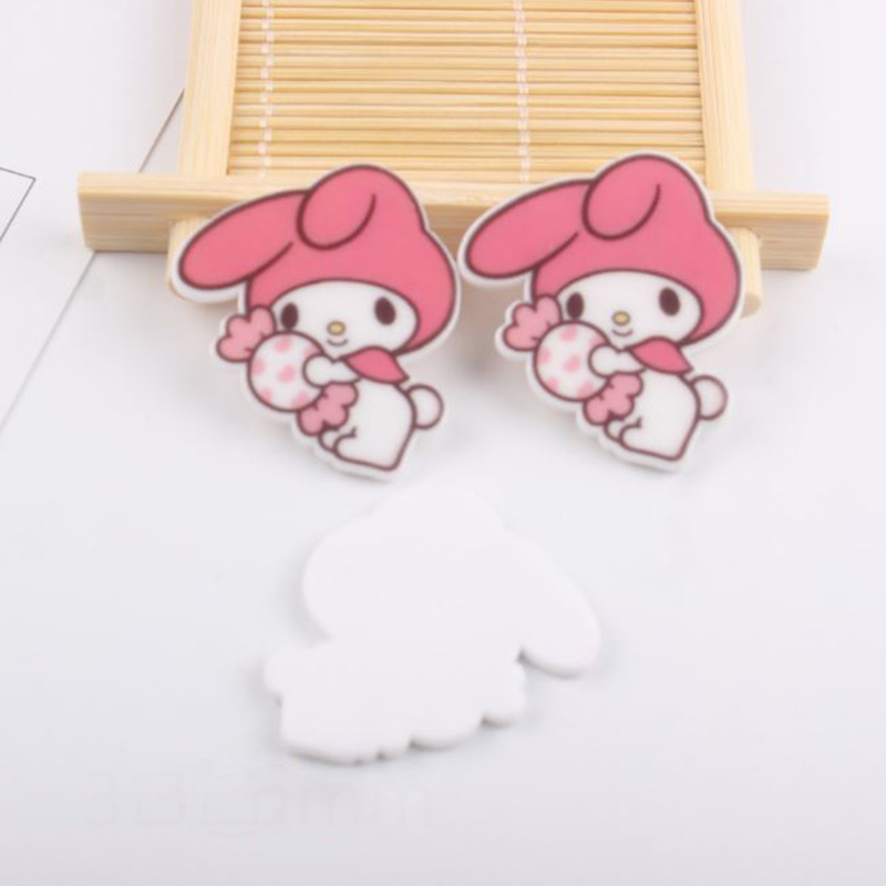 10 Pcs/lot Adorable Cartoon My Melody DIY Acrylic Patch For Child Hair Ornament Phone Decor Craft Toys