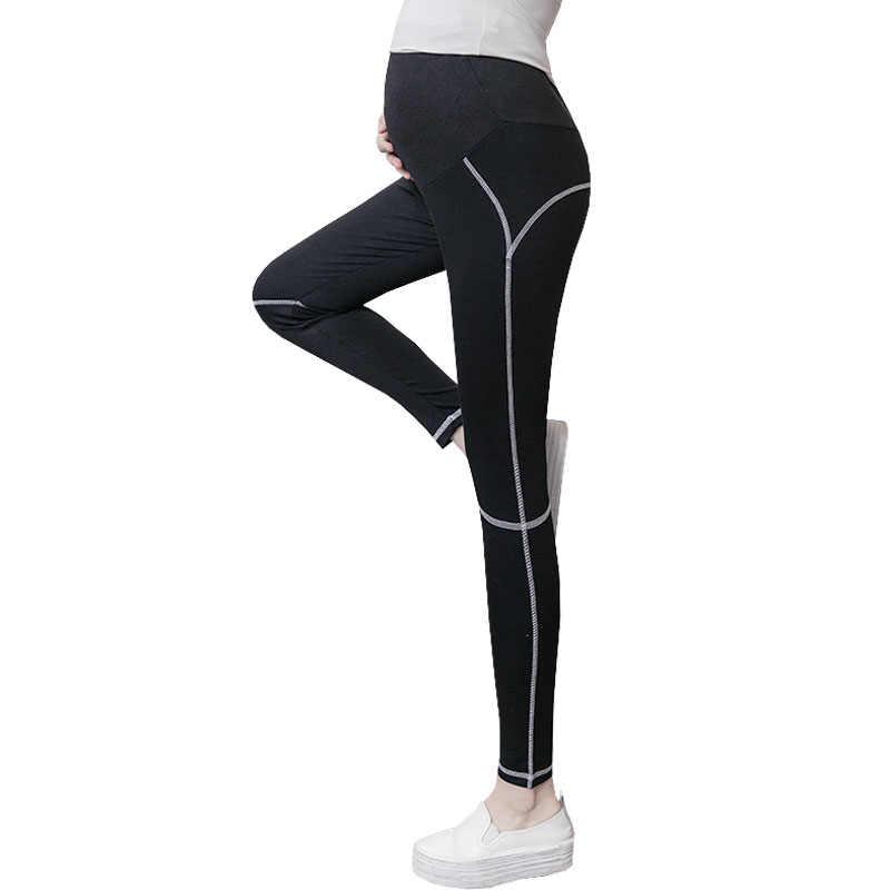 78e76192047e2 Yoga Pants Maternity Leggings For Pregnant Women Clothes Sport Slim Bottom Pants  Pregnancy Leggings Skinny Maternity
