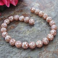 16mm Pink Mother Of Pearl Round Shell Beads 15.5 Strand