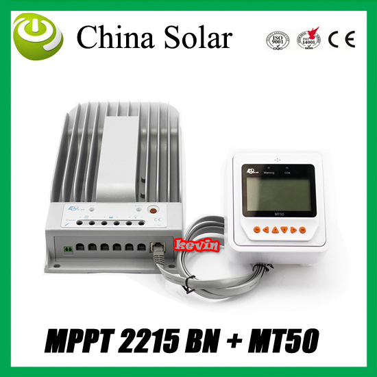 New Tracer MPPT  Solar Controller 20A 150V solar panel input Remote Meter LCD MT50 EPsolar