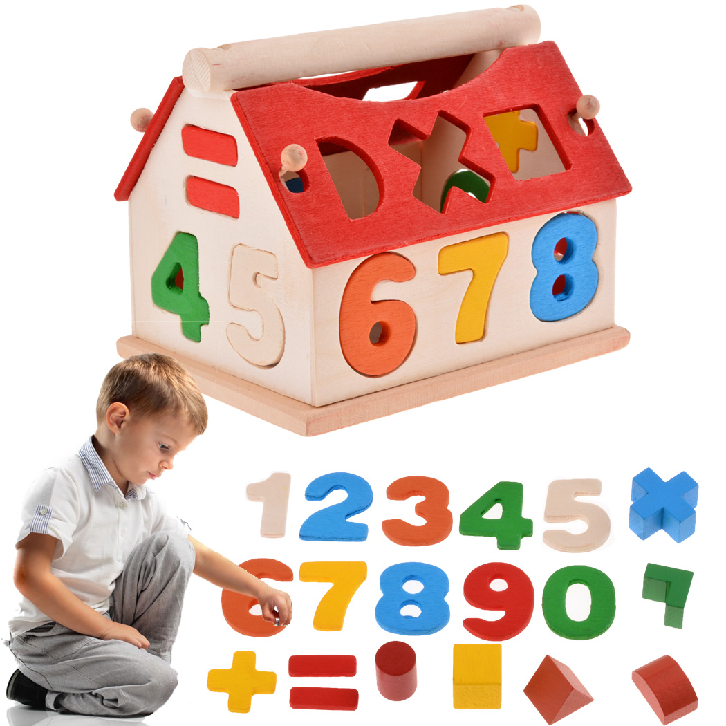 Latest Educational Toys : Popular wood house number buy cheap lots