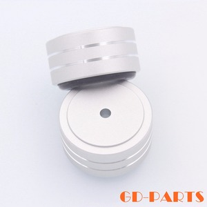 Image 2 - 4 pièces 40*20mm usiné plein aluminium amplificateur pieds PC châssis haut parleur armoire Isolation support Base ampli DAC plateau tournant cône