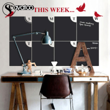 This Week Plann Calendar Erasable Blackboard Chalkboard Vinyl Wall Decal Sticker Home Office 70x107cm