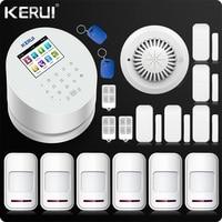 KERUI W2 Wi Fi GSM PSTN сигнализации дома приложение ISO 433 мГц TFT Golor Экран RFID разоружить Arm Комплект Безопасности