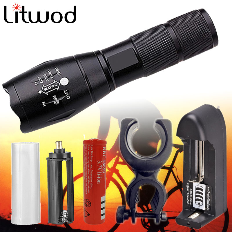 Z30 LED XM-L2 5000LM Adjustable Zoomable Flashlight Light Torch Lantern CREE XM-L2 Flashlight Rechargeable 18650+charger+cover cree xm l2 flashlight 5000lm adjustable zoomable led xm l2 flashlight lamp light torch lantern rechargeable 18650 2chargers z30