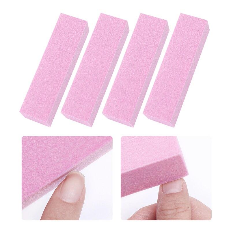 10 τεμάχια / σετ ροζ λευκή λείανση - Τέχνη νυχιών - Φωτογραφία 6