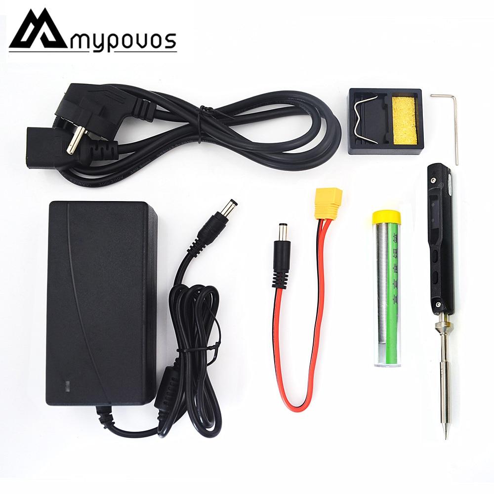 Mini TS100 Portable Electric Soldering Iron Adjustable Temperature Digital Solder Station OLED Display Solder Wire Tweezers