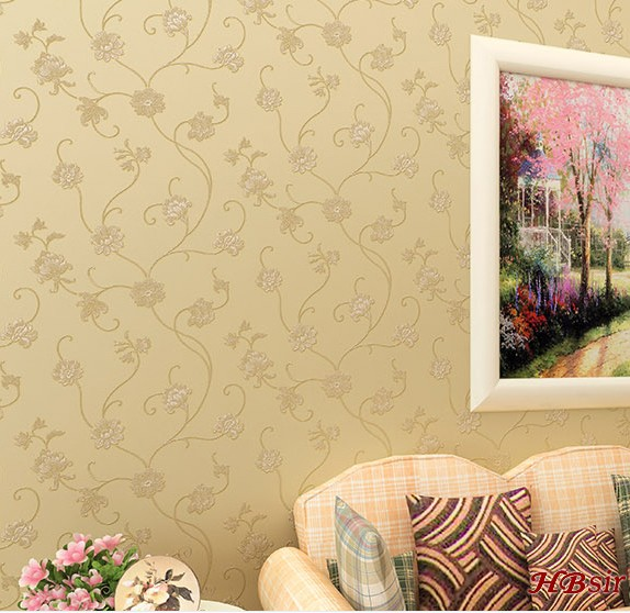 10m*53cm,wall stickers rural environmental protection non-woven Romantic and warm bedroom a sitting room background wall paper pulp and paper industry and environmental disaster