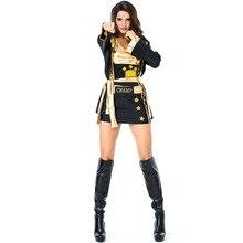 Bóxer para mujer disfraz Cosplay disfraz de Halloween tamaño libre Sexy  unids 4 piezas conjunto chaqueta + falda + abrigo + cint. 7072ca8120f