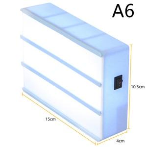 Image 5 - Kết Hợp Đèn LED Đèn Ngủ Hộp Đèn A4 A6 Kích Thước Tự Làm Chữ Màu Đen Thẻ Cổng USB Sử Dụng Nguồn Điện Ảnh Lightbox